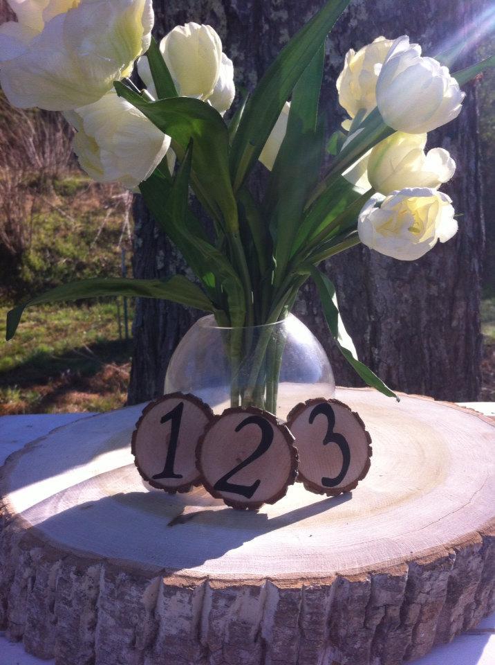 Mariage - Table number Rustic Wedding Wood Tree Slices Decor SOURWOOD Disc Tree Log Round