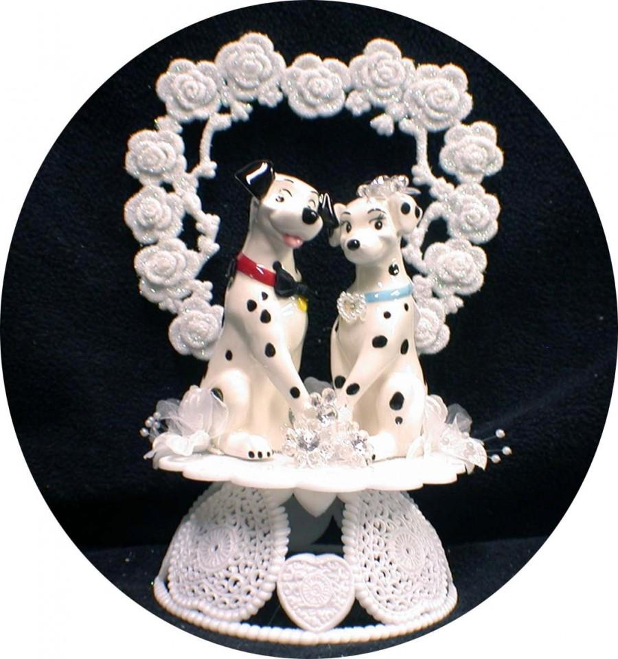 زفاف - Disney 101 Dalmatian dog Wedding Cake Topper funny puppies pets