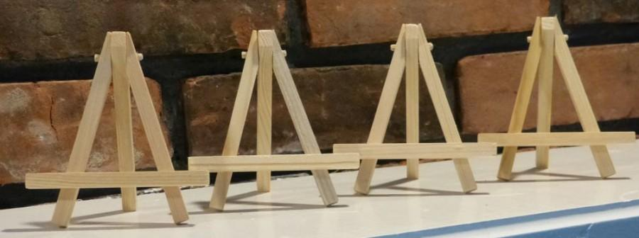 Свадьба - Small Wooden Easels - Natural Wood - ACEO - Buy 2 get 1 free