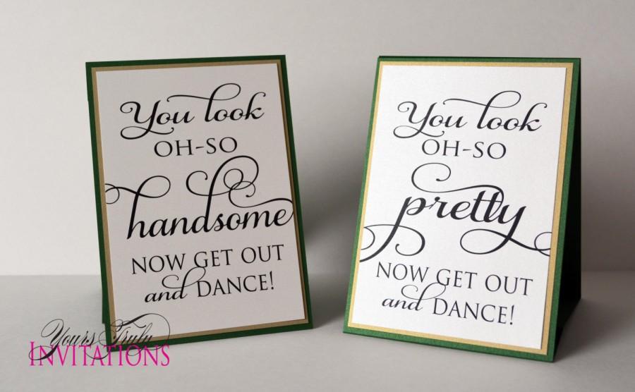 Свадьба - Oh So Pretty, Oh So Handsome Bathroom Signs for Wedding Reception