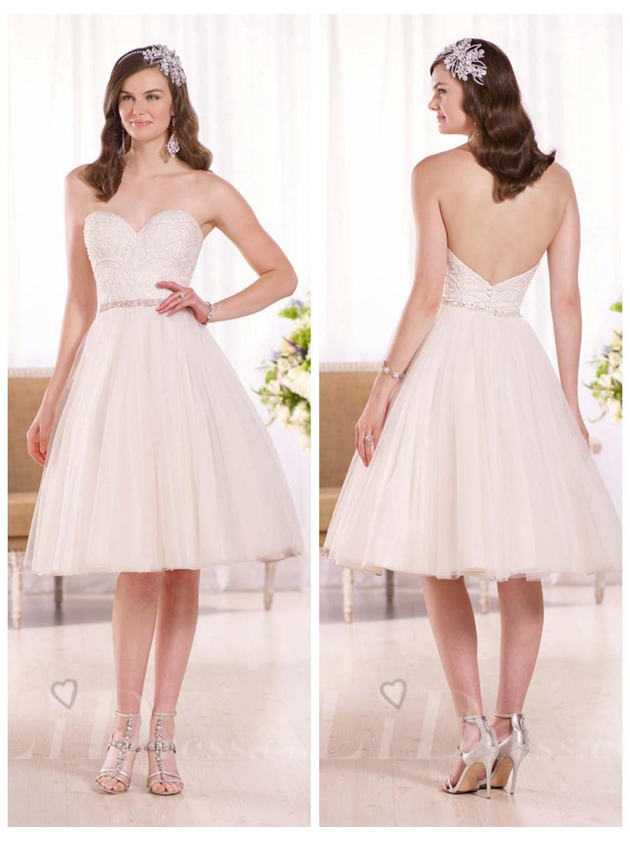 Mariage - Dreamy Knee-length Sweetheart Wedding Dress