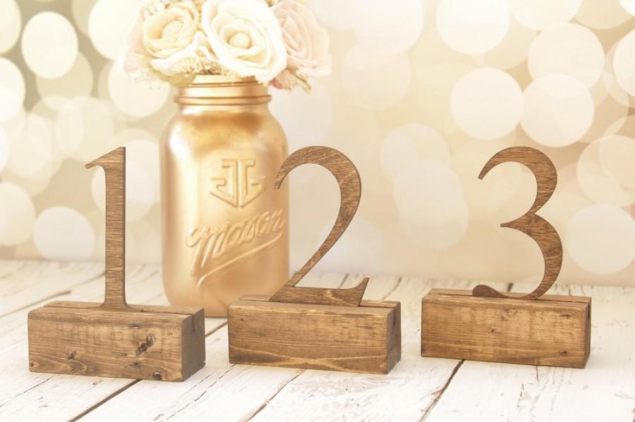 Rustic Table Numbers Wedding Table Numbers Freestanding Table ...