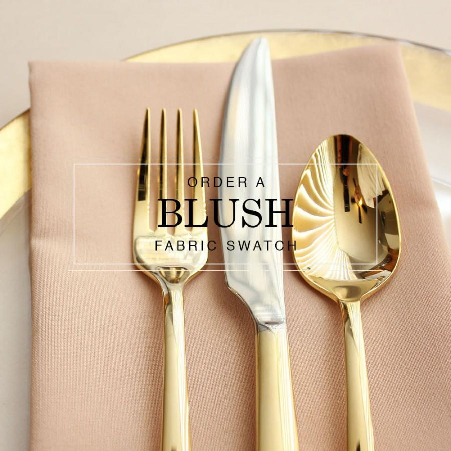 زفاف - Blush Wedding Table Linens, Order a Fabric Swatch