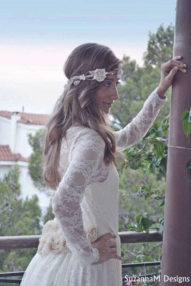 زفاف - Bride Flower Crown, Bridal Flower Tiaras, Headpiece Bridal, Floral Headband, Lace Head Piece, Wedding Hair, Lace Hair Wreath, Wedding Crown