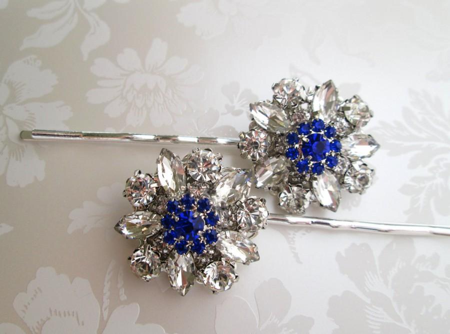Wedding Hair Pins Blue Bobby Something Accessory Clips Royal Shire Navy