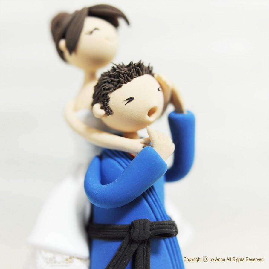 Свадьба - Wedding Cake Topper - Custom Cake Topper - Jiu jitsu Cake Topper - Funny Cake Topper - Martial Arts Cake Topper