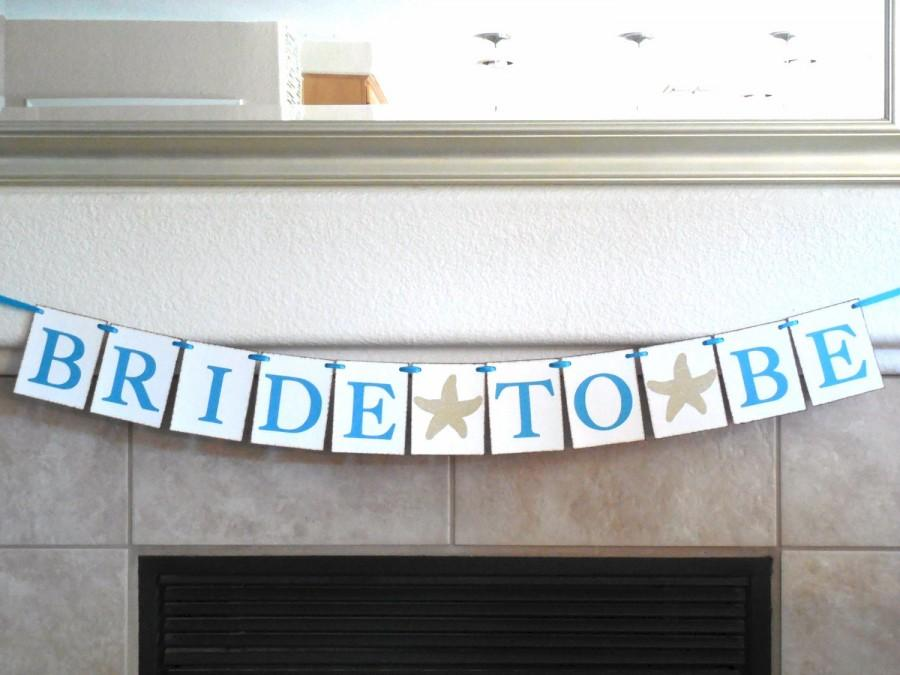 Nautical Bridal Shower Decoration Beach Bride To Be Banner