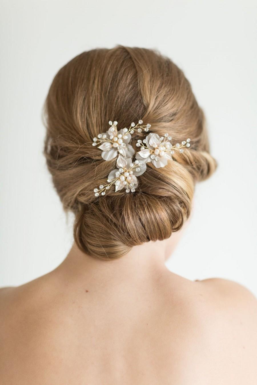 Mariage - Wedding Hair Pins, Bridal Hair Pins, Pearl Hair Pins