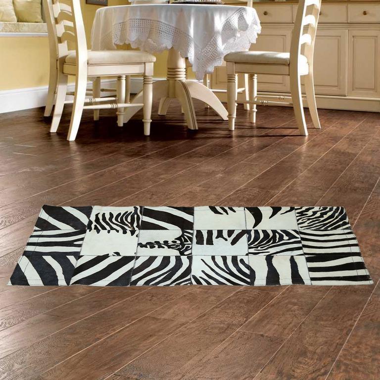 Hochzeit - Zebra Patchwork Rug Black and White