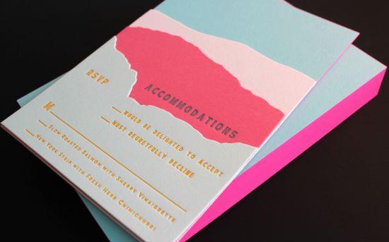 Mariage - Tara   Rich's Colorful Palm Springs Wedding Invitations