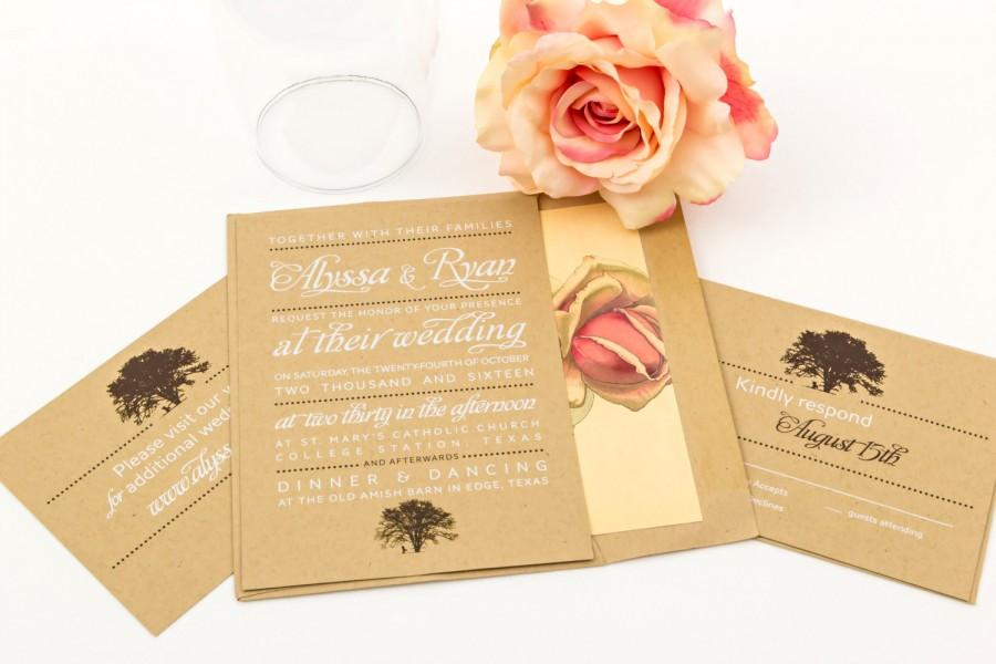 Mariage - Rustic Wedding Invitation Suite - The Black Cherry Suite, Purchase this deposit to get started, Country Weddings, Rustic Wedding