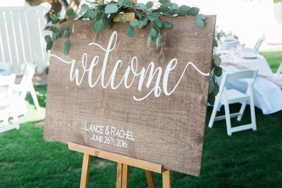 Welcome Wedding Sign Wooden Wood W