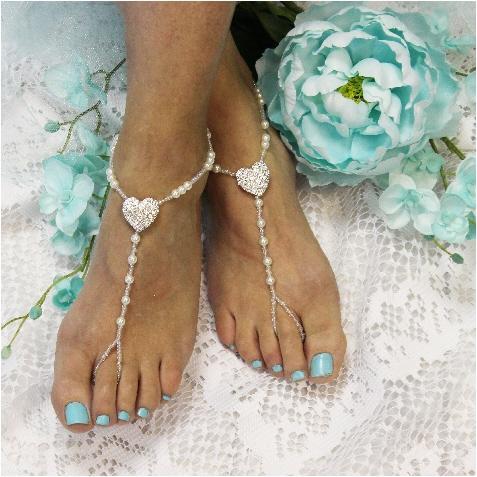 Boda - Heart barefoot sandals