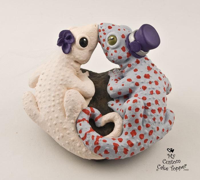 Свадьба - Geckos Custom Wedding Cake Topper