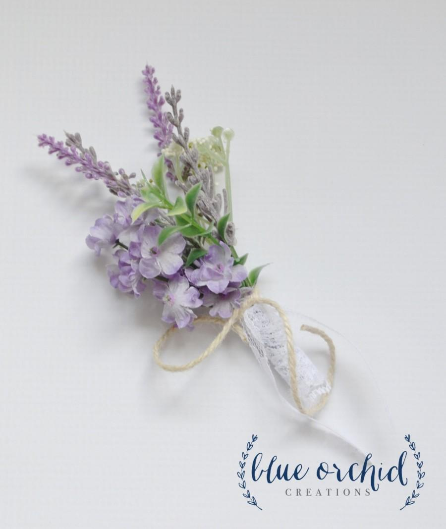 Lavender Boutonniere Lavender And Wildflower