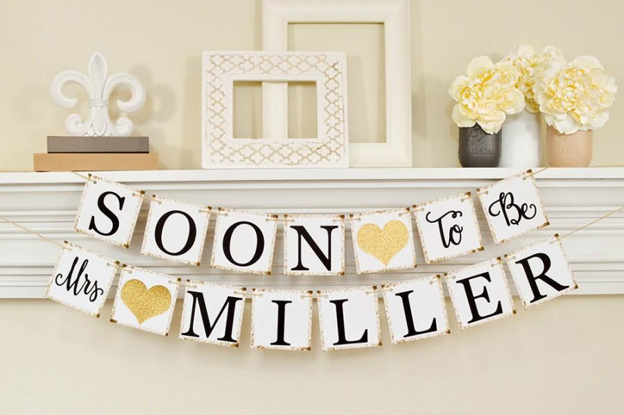 soon to be mrs banner bridal shower decorations bridal shower banner soon to be mrs bachelorette party bridal shower gold glitter b206