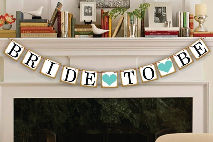 Свадьба - Bride To Be Banner - Wedding Banners - Bridal Shower Banner - Decoration Wedding Sign - Garland