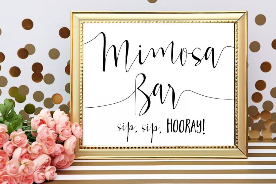 photograph about Sip Sip Hooray Printable known as Mimosa Bar Signal Mimosa Bar Printable Sip Sip Hooray Wedding ceremony