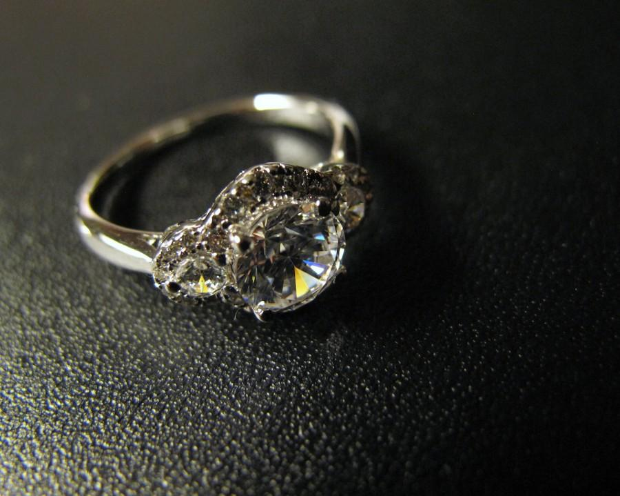 Свадьба - Classic Designer Inspired Engagement Ring, Made to Order