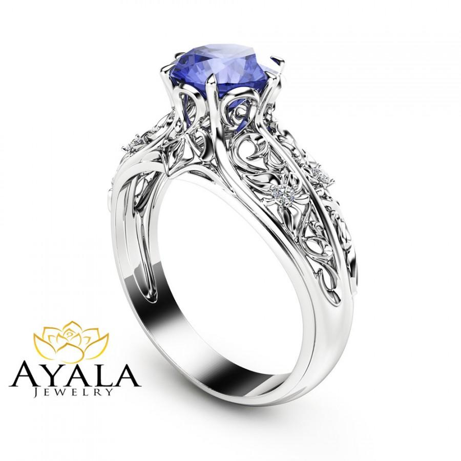 gemstone ring collection engagement tanzanite rings gold in timeless diamonds white with a diamond purely stones shoulder