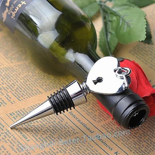 Wedding - présent de noces BETER-WJ057 Key To My Heart wine Bottle Stopper ...
