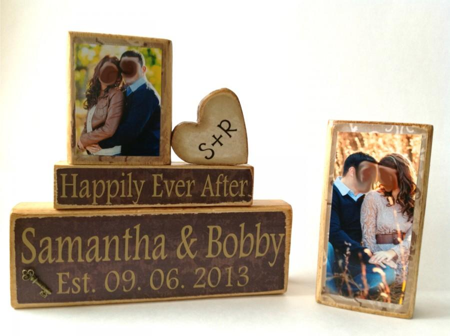 personalized wedding giftdecoration happily ever after wedding shower anniversarychristmas gift unique wedding gift last name