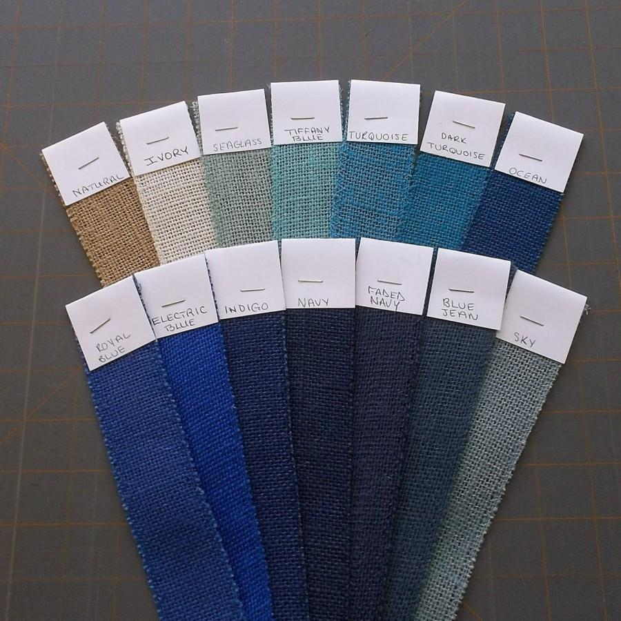 Свадьба - 6 in BLUE Burlap Ribbon -3 yards
