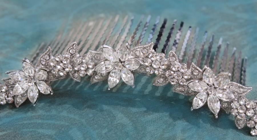 Mariage - swarovski crystal bridal tiara headpiece wedding tiara wedding headpiece bridal rhinestone tiara crystal tiara crystal bridal accessories