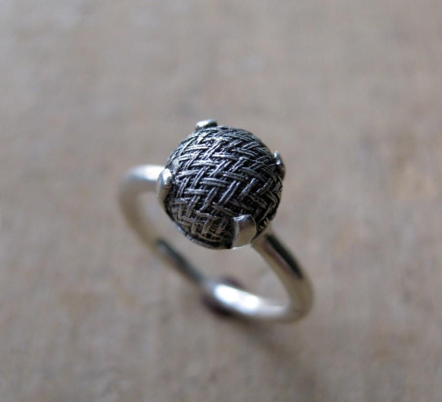 Свадьба - Old victorian button ring WOVEN Made to Order
