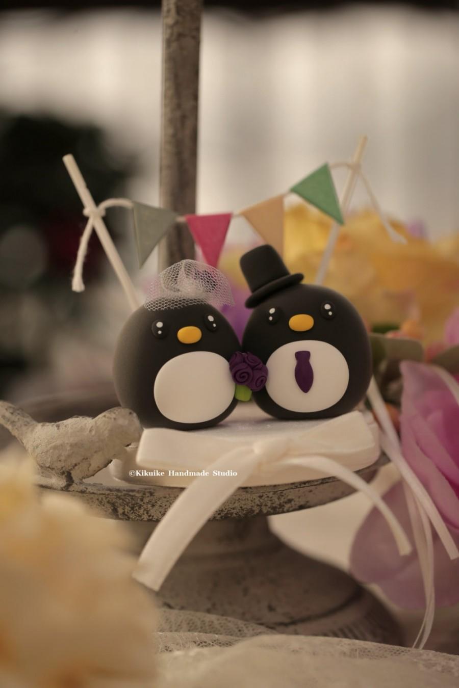 Свадьба - Penguins wedding cake topper