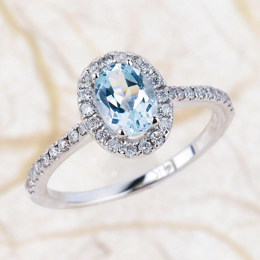 ring engagement natural cushion rings youtube cut aquamarine watch