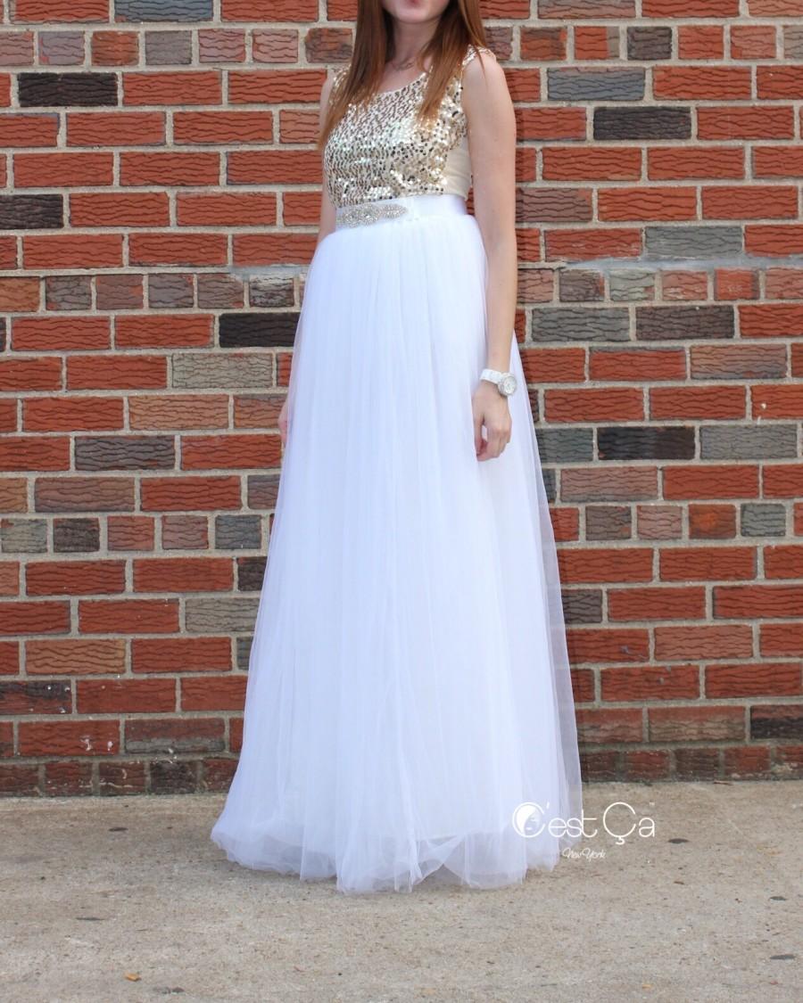 Wedding - Claire White Soft Tulle Skirt - Maxi - C'est Ça New York