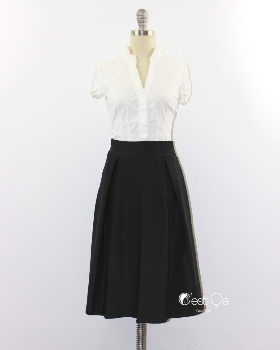 Свадьба - Amelie Black Pleated Skirt - C'est Ça New York