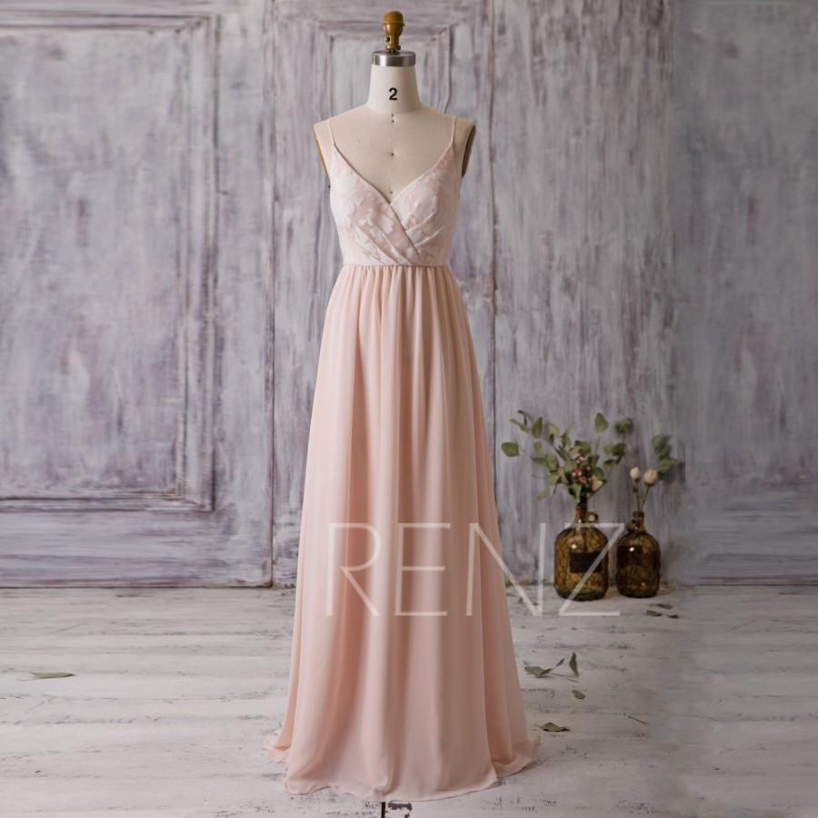 8243b6b5db7 2016 Peach Bridesmaid Dress Long
