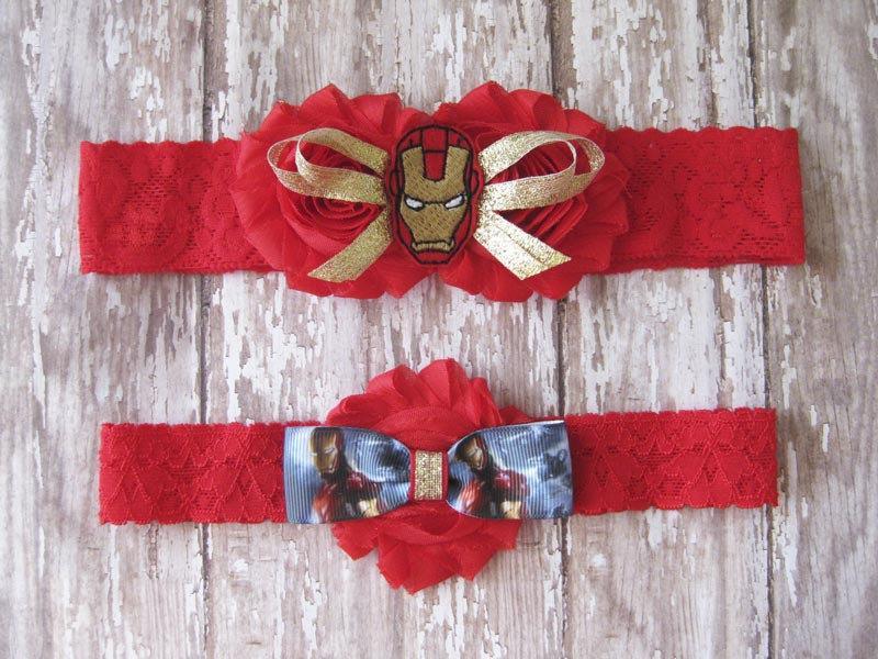 Wedding - Iron Man Lace Garter Set