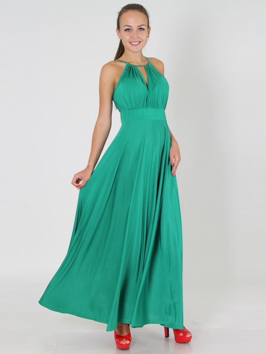 Mariage - Mint long evening dress, Maxi dress bridesmaid Formal gown floor length Dress for wedding party.