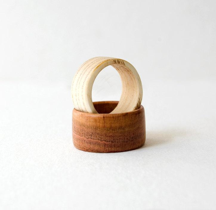 Wood Ring, Wooden Rings Set, Wedding Bands, Wedding Ring