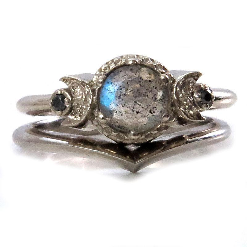 ring rings zoom il moonstone fullxfull engagement rainbow moon in crescent galaxy listing