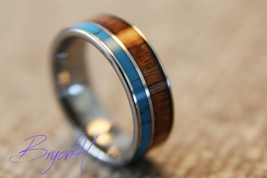 Inlay Wood Tungsten Carbide ring  wood wedding bands  tungsten wedding bands  with wood inlay  Inlay Turquoise  wood ring for man womanInlay Wood Tungsten Carbide Ring  Wood Wedding Bands  Tungsten  . Inlay Wedding Bands. Home Design Ideas