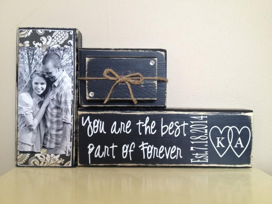 Custom Wedding Gift Decoration Black Shabby Chic Black Wedding