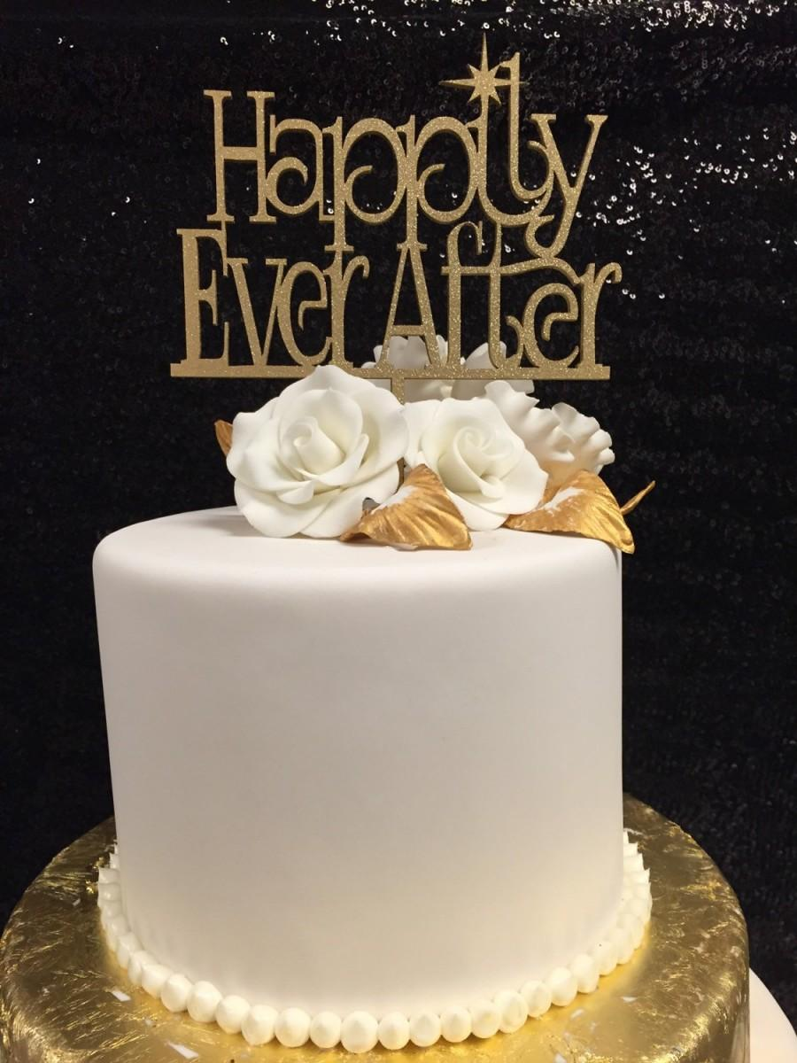 Mariage - Happily Ever After Cake Topper, Wedding Cake Topper, Fairy Tale Cake Topper, When You Wish Upon A Star Cake Topper