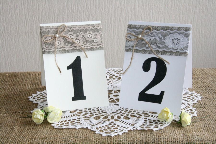 Burlap Wedding Table Numbers, Rustic Table Numbers, Wedding Table ...