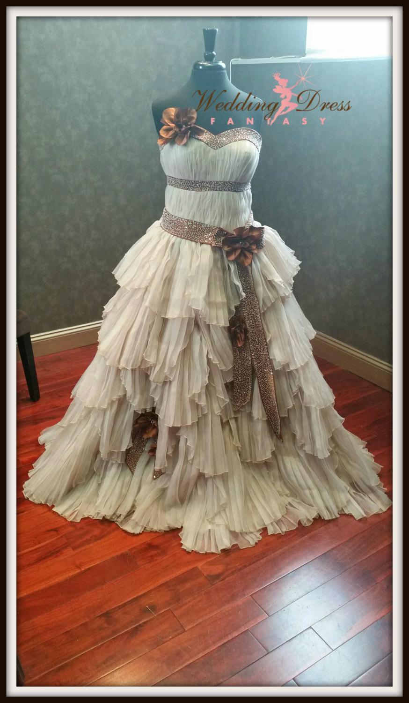 Steampunk wedding dress custom made rustic bridal gown for Wedding dress steaming