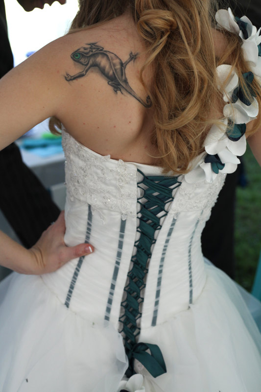 Wedding - Corset Wedding Dress Custom Made with Organza and Lace