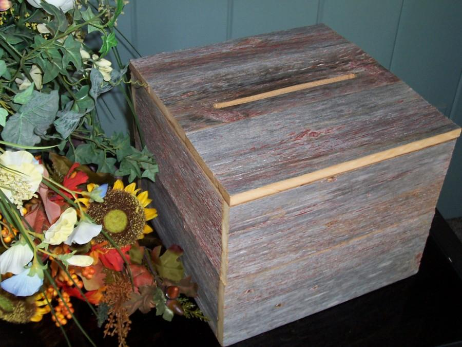 Wedding Card Box Wooden Rustic Wedding Reception Wedding Decorations ...