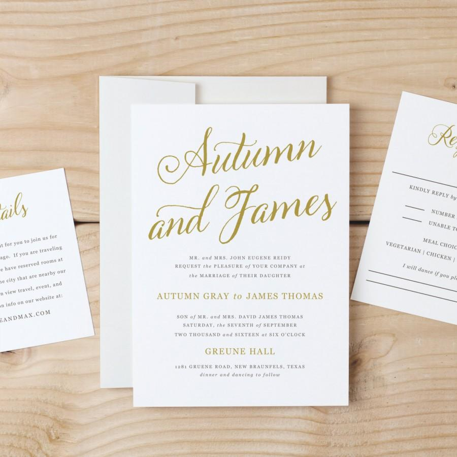 Wedding - Printable Invitation Template        Print Instantly