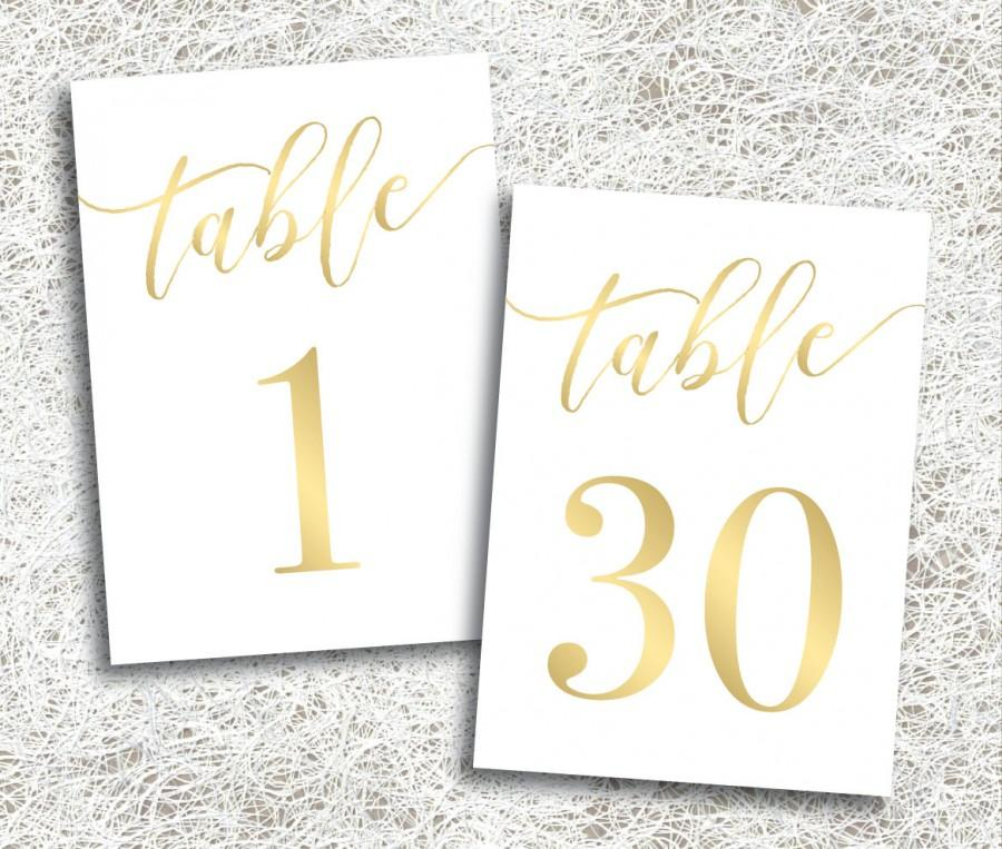 printable gold wedding table numbers 1 30 2504754 weddbook