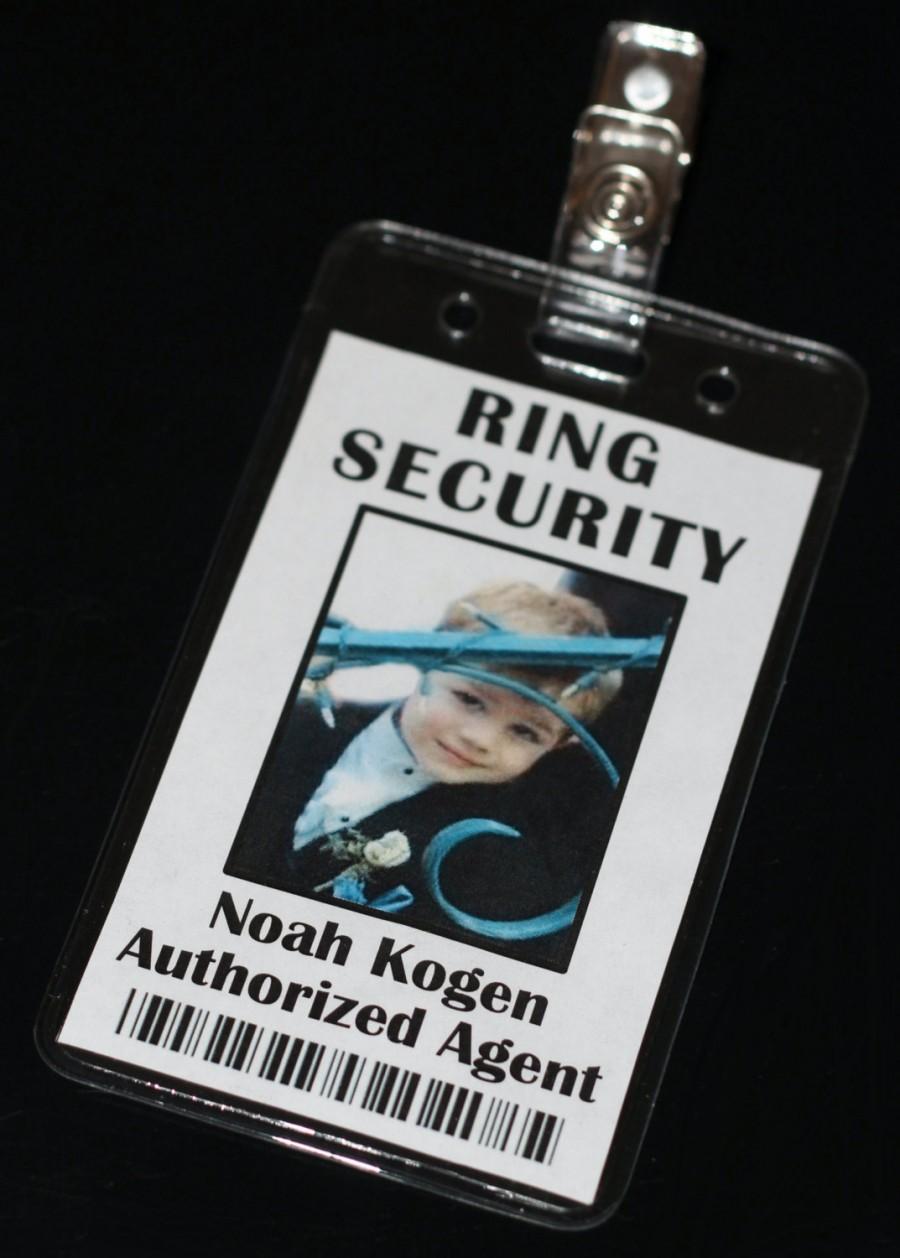 زفاف - Ring Security Secret Agent Badge, Ring Bearer, Bling Security Agent, Wedding Security, Bride Security, Flower Girl Security