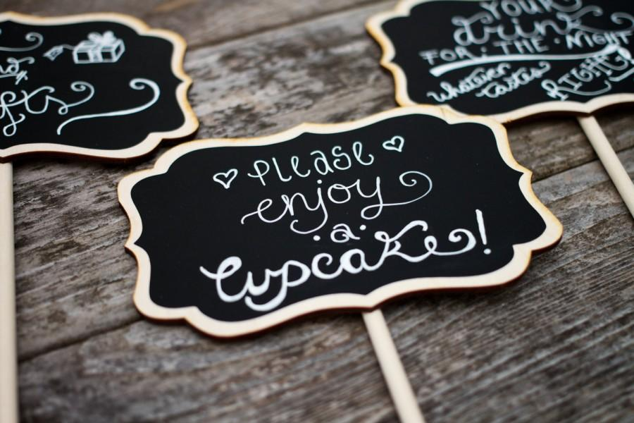 Свадьба - Small Chalkboard Signs for Weddings,  Small Chalkboard Sign Table Numbers, 4 x 6 LISA