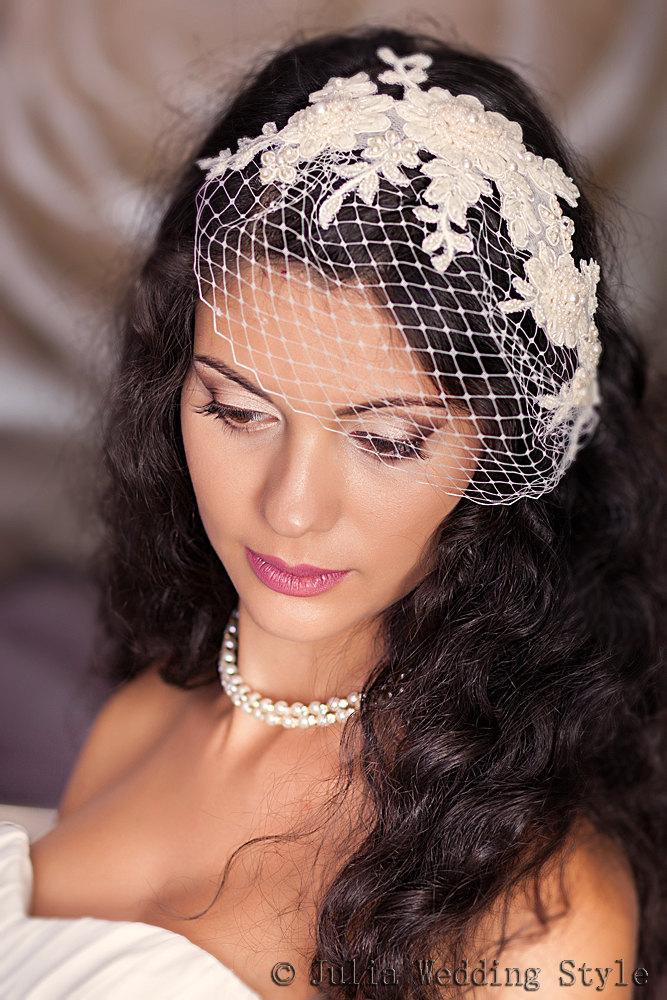birdcage veil rhinestone veil crystal veil rhinestone blusher veil crystal bridal headpiece wedding veil ivory wedding headpiece